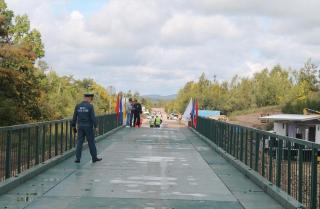 Фото: АО «Примавтодор»   В Приморье восстановили мост через реку Арсеньевку