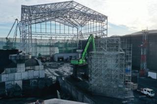 Фото: «Терминал Астафьева»   «Терминал Астафьева» начинает строить второй блок навеса