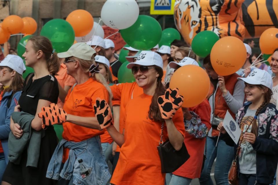 «Тигриная колонна» прошла по центру Владивостока