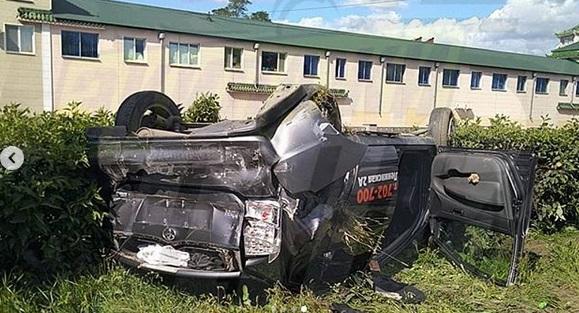 Ученик за рулем автомобиля перевернулся в Приморье