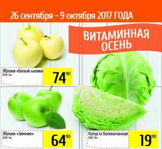 Витаминная осень в супермаркетах «Фреш 25»