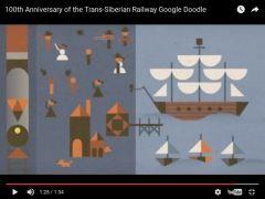 Фото: скриншот YouTube   Вековой юбилей Транссиба отметил Google