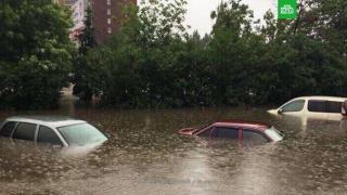 Фото: кадр телеканала НТВ   Начнется раньше: уточнен прогноз по мощному ливню во Владивостоке