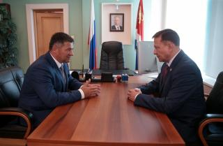 Андрей Тарасенко встретился с председателем Законодательного собрания Приморья