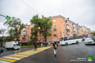 Фото: Анастасия Котлярова/vlc.ru | Фасады зданий во Владивостоке перекрасили с учетом колористического плана