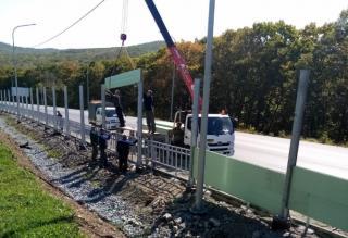 Фото: АО «СПЕЦСУ», ООО «Трансстроймеханизация»   Строительство дороги до Большого Камня завершат осенью 2022 года