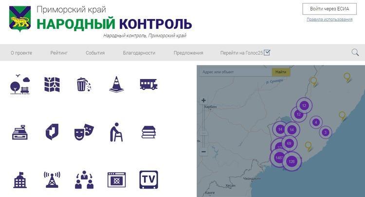 Приморцы все чаще пользуются порталом «Народный контроль»