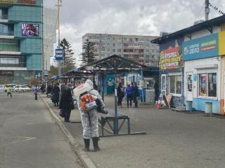 В городах Приморья ежедневно проводится дезинфекция общественных мест