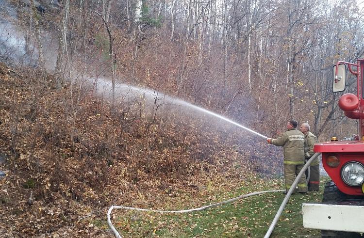 В приморских лесах огнеборцы потушили еще пять лесных пожаров