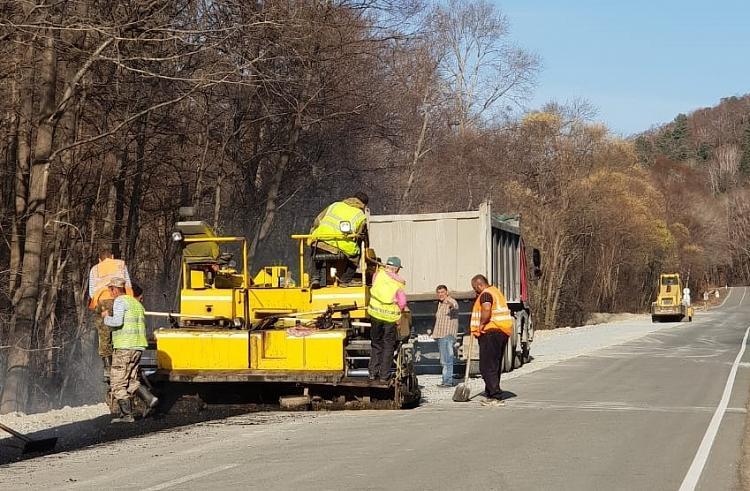 В одном из районов Приморья завершаются дорожные работы