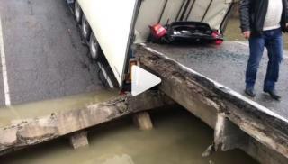 Фото: кадр из видео | Озвучены новые детали обрушения моста в Приморье