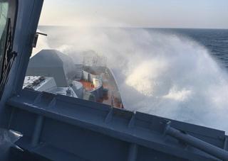 Фото: mil.ru   Впервые новейший корвет «Громкий» провел артиллерийские стрельбы
