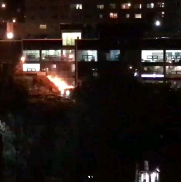 Ночью во Владивостоке горел торговый центр