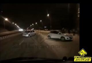 «День жестянщика – 2»: в пригороде Владивостока из-за непогоды произошло массовое ДТП