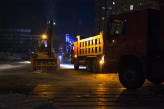 Во Владивостоке очистили от снега и наледи важный участок дороги (фото)
