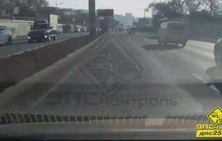 Метод «воспитания» водителя на трассе поддержали владивостокцы