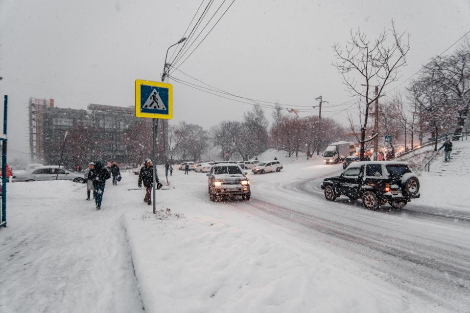 Сегодня в Приморье ожидается сильный снег