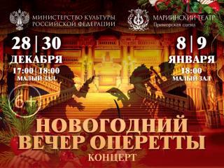 Фото: Приморская сцена Мариинского театра   Новогодний вечер оперетты на Приморской сцене Мариинского театра