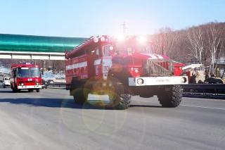 Фото: МЧС | В Приморье из горящей квартиры спасли мужчину