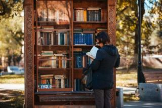 Вандалы разбили книжный шкаф во Владивостоке