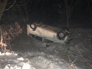 Пьяный водитель улетел в кювет в Приморье