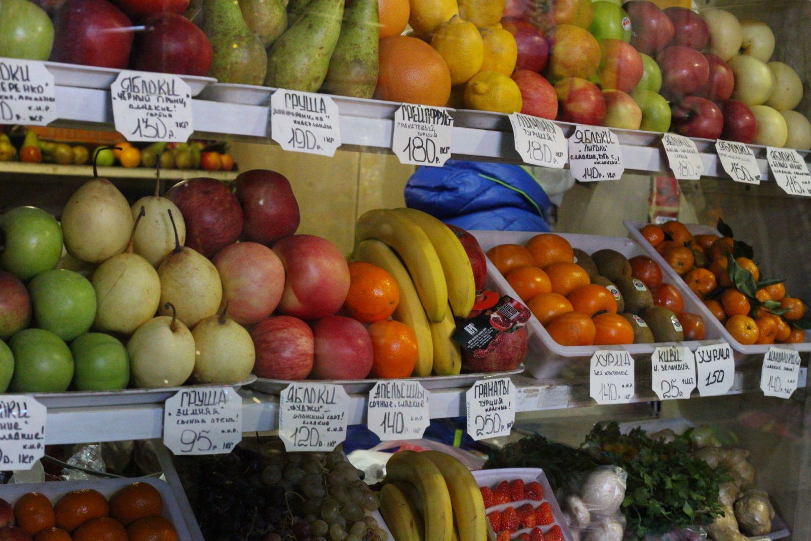 Цены на продукты на рынке голая пристань юзаю