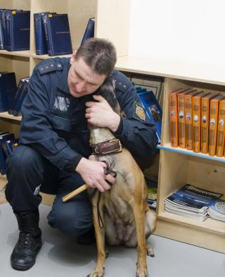 Фото: Эльмира Маммедова | «Усы, лапы и хвост на страже России»: жителей Владивостока познакомили со служебными собаками