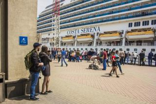 Фото: Анна Шеринберг | Впервые круизный лайнер Costa Serena прибыл во Владивосток