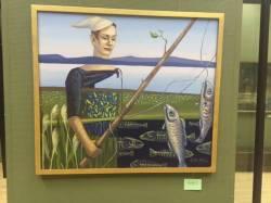 Фото:    Во Владивостоке открылась арт-выставка про рыб