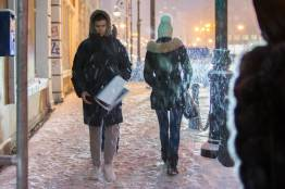 Фото:  | Очередной снегопад выпал во Владивостоке